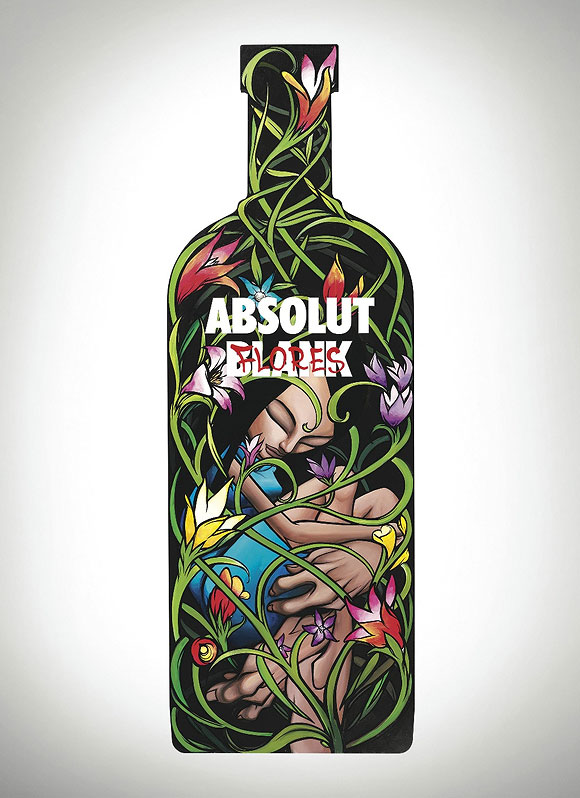 It all starts with an Absolut Blank, Sam Flores