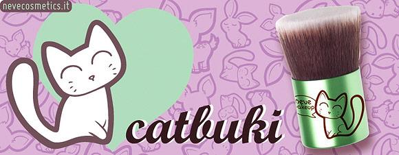 Kawaii Kabuki Flatbuki, Catbuki - Neve Cosmetics