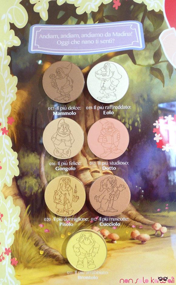 Un Natale da Favola: Madina for Disney, Seven Dwarfs Collection, Sette Nani ombretti