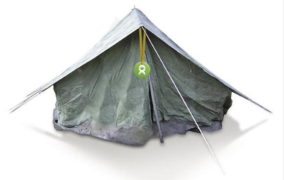 Gli Spacchettati by Oxfam, tenda