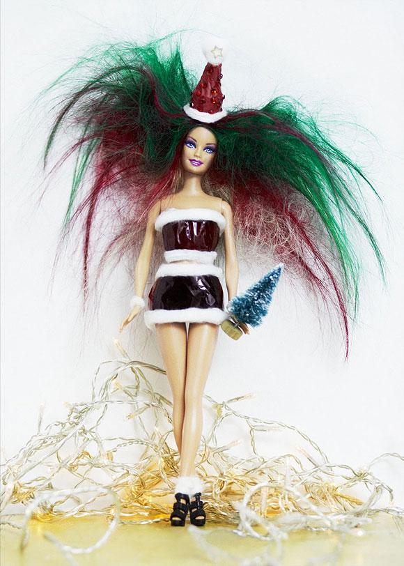 Christmas Barbie by Alex and Nicole, Bleach Salon