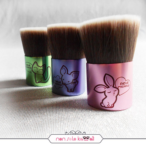 non solo Kawaii - Bunnybuki, Deerbuki, Catbuki, Kawaii Kabuki Collection, Neve Cosmetics