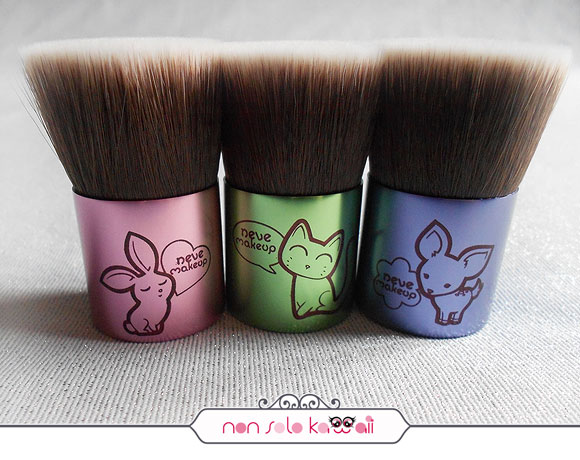 non solo Kawaii - Bunnybuki, Catbuki, Deerbuki, Kawaii Kabuki Collection, Neve Cosmetics