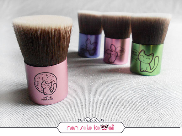 non solo Kawaii - Flatbuki Kawaii Japan (sold out), Deerbuki, Bunnybuki, Catbuki, Kawaii Kabuki Collection, Neve Cosmetics