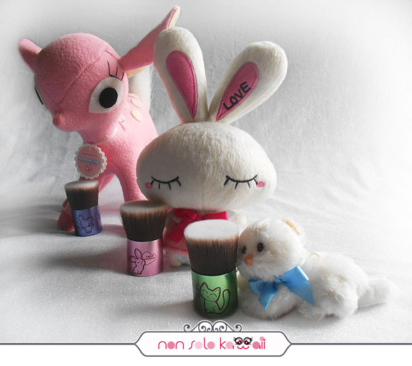 non solo Kawaii - Catbuki, Bunnybuki, Deerbuki, Kawaii Kabuki Collection, Neve Cosmetics