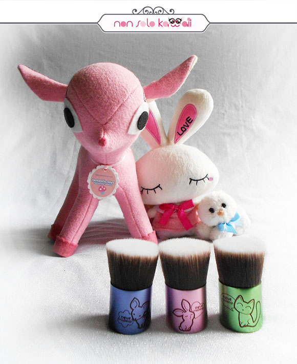 non solo Kawaii - Deerbuki, Bunnybuki, Catbuki, Kawaii Kabuki Collection, Neve Cosmetics