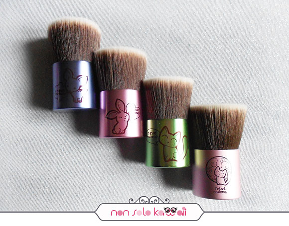 non solo Kawaii - Deerbuki, Bunnybuki, Catbuki, Flatbuki Kawaii Japan (sold out), Kawaii Kabuki Collection, Neve Cosmetics
