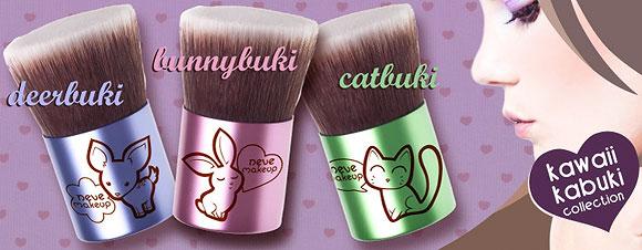 Neve Cosmetics - Deerbuki, Bunnybuki, Catbuki, Pennello Kawaii Kabuki, brush