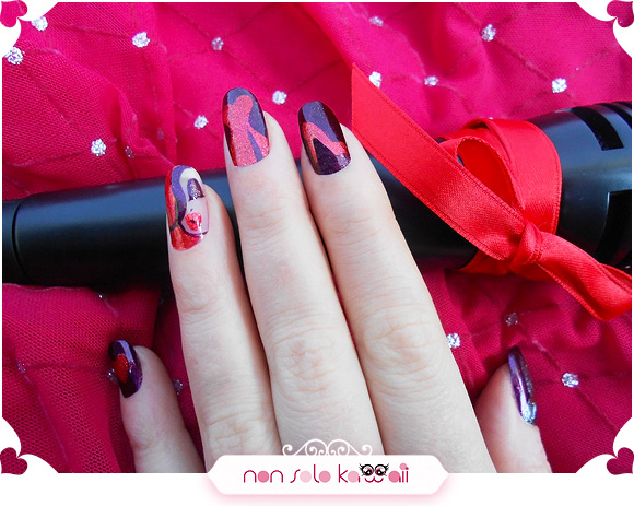 Nail art Jessica Rabbit inspired, Orly Mineral FX - Nail art ispirata a Jessica Rabbit