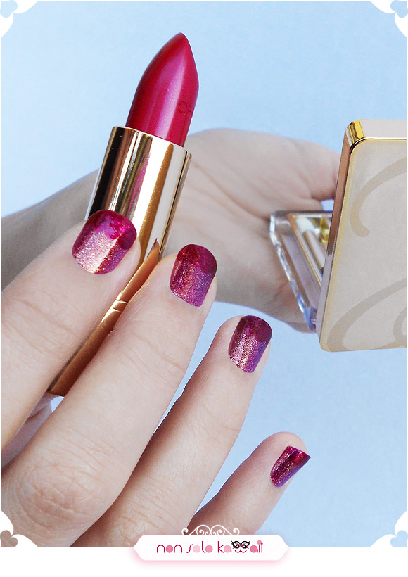 Nail art Jessica and Roger Rabbit inspired, Orly Mineral FX - Nail art ispirata a Jessica Rabbit