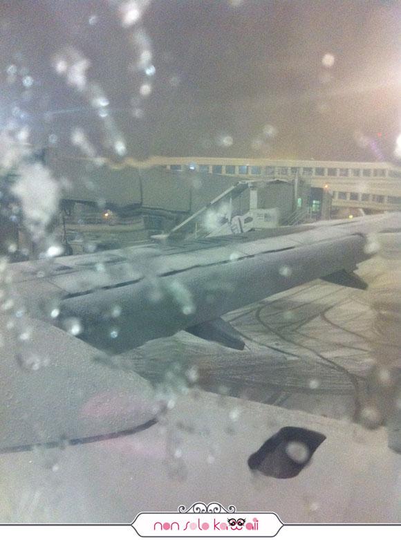 Aereoporto Milano Malpensa con neve a gennaio