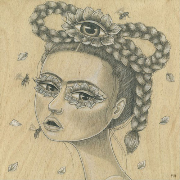 Maria Rozalia Finna - Womens Intuition, Frida Kahlo cute portrait