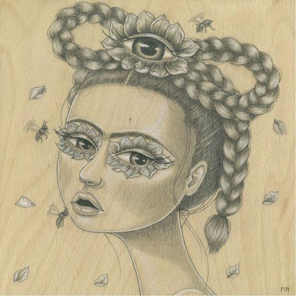 Maria Rozalia Finna - Womens Intuition, Frida Kahlo cute portrait