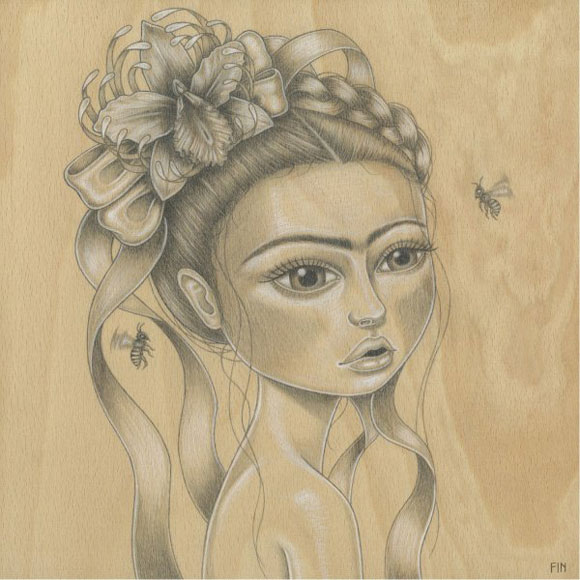 Maria Rozalia Finna - La Flor de la Vida, Frida Kahlo cute portrait