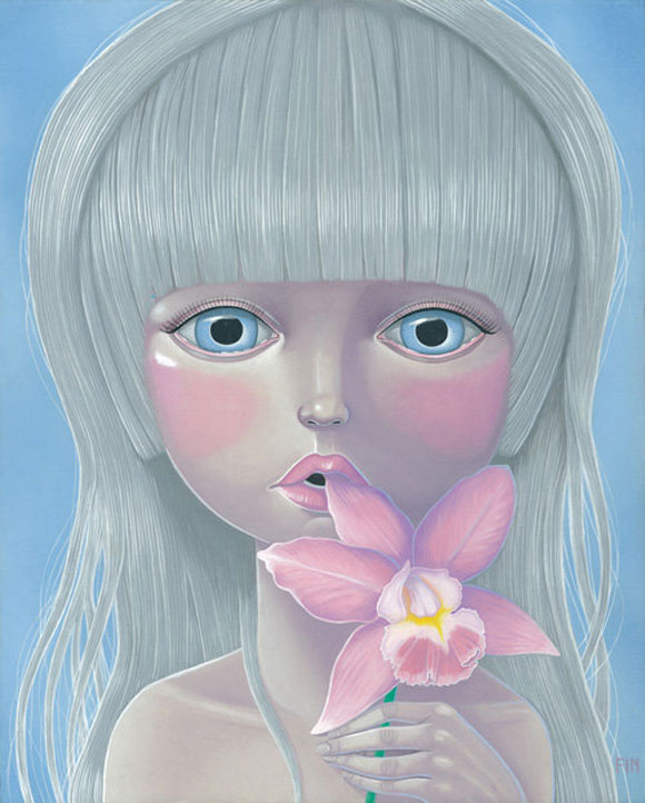 Maria Rozalia Finna - Orchids For The Lost, cute girl with flower