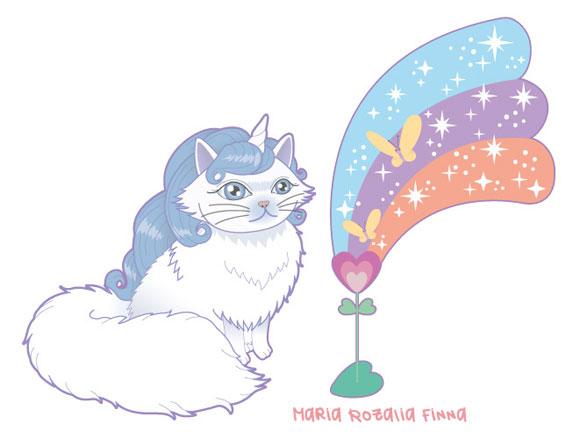 Maria Rozalia Finna - Magicat, unicorn cat, gatto unicorno