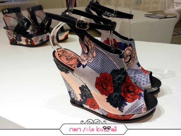 scarpe della Nuova Collezione Fornarina Primavera Estate 2012 in stile giapponese