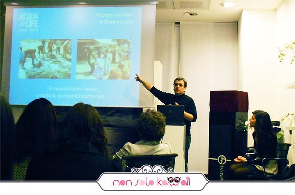 Elio Pacilio presidente di Green Cross Italia, Acqua For Life, Giorgio Armani