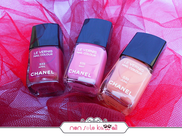Le Vernis Nail Colour 533 April, 535 May, 539 June, Make-up Harmonie de Printemps by Chanel