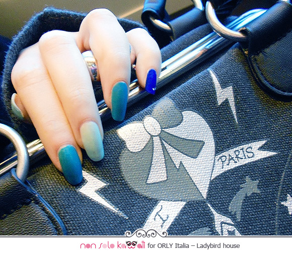 Laura's Hand, Orly nail art by Rosaria Piergentili