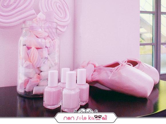 Essie nail polish smalti - rosa con scarpe da ballerina