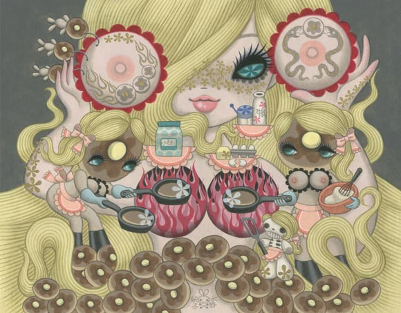 Junko Mizuno Venus Cake Exhibition, Pancakes, ciambelle kawaii