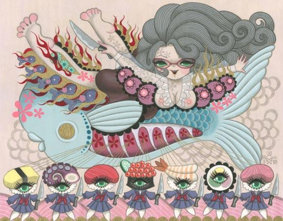 Junko Mizuno Venus Cake Exhibition, Sushi kawaii