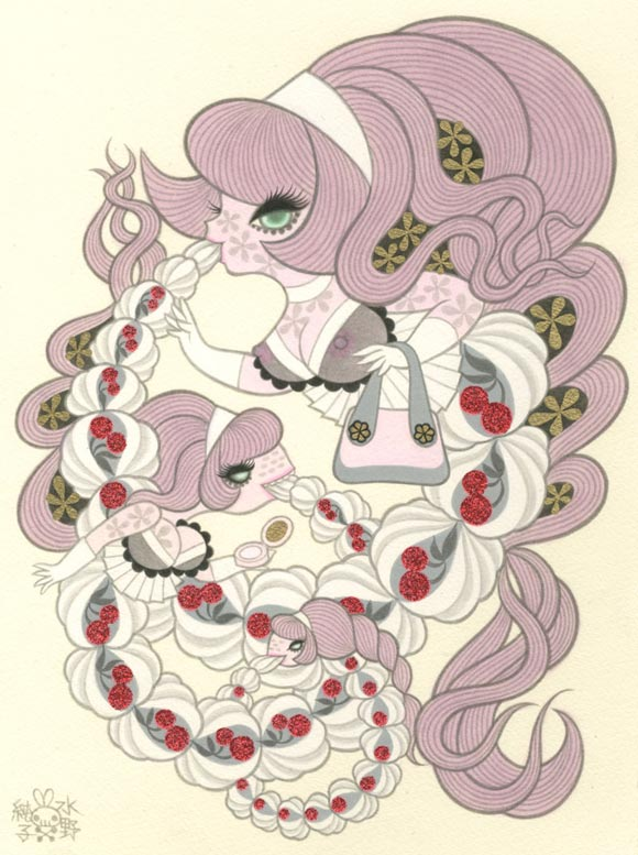 Junko Mizuno Venus Cake Exhibition, Whipped Cream II kawaii