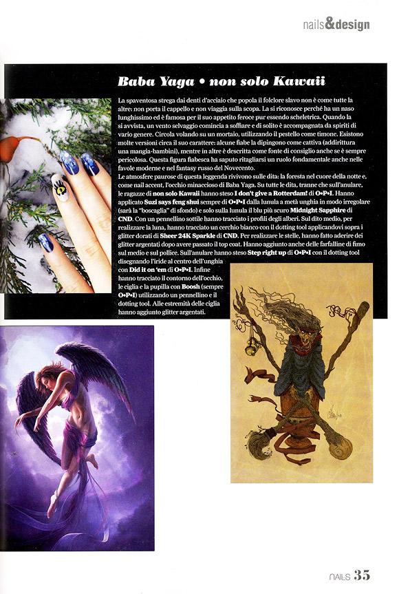 Love Nails marzo-aprile 2012, pg. 35, Baba Yaga Nail Art