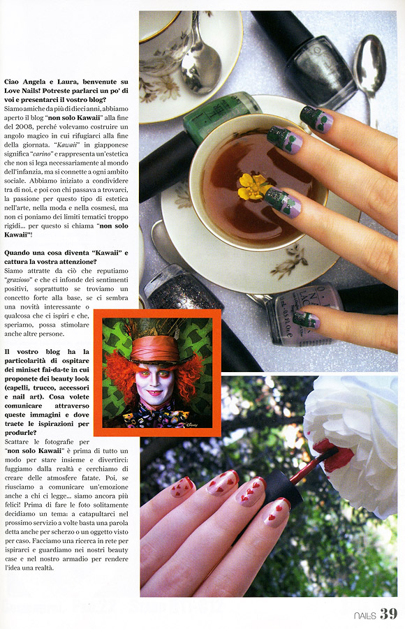 Love Nails marzo-aprile 2012, pg. 39, non solo Kawaii Intervista
