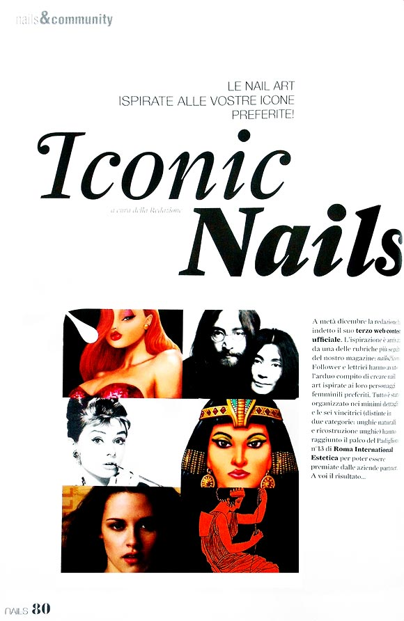 Love Nails marzo-aprile 2012, pg. 80, Iconic Nails