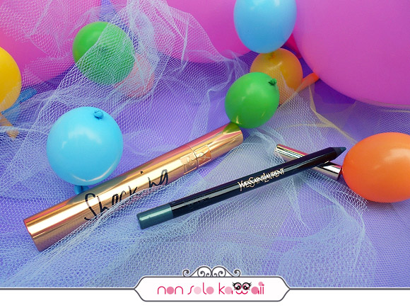 non solo Kawaii - Mascara Volume Effet Faux Cils Shocking - 3 Noir Bronze, Dessin du Regard Waterproof - 6 Vert Amazone