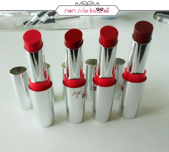 non solo Kawaii - Miss Pupa Rossetti, Lipstick, Red Passion, 501, 502, 503, 504