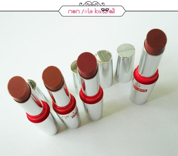 non solo Kawaii - Miss Pupa Rossetti, Lipstick, Luxury Beige, 600, 601, 602, 604