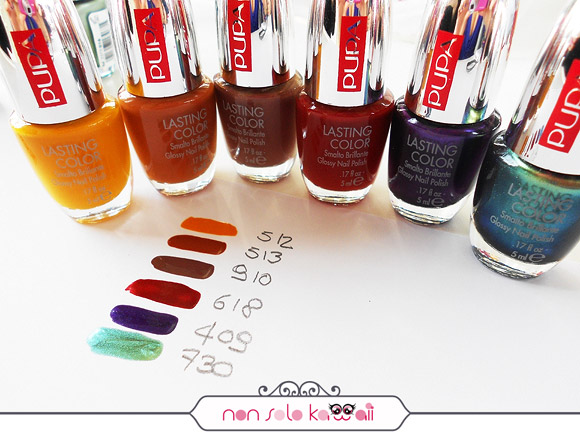 non solo Kawaii - Pupa, Lasting Color, Afro Chic Collection swatches