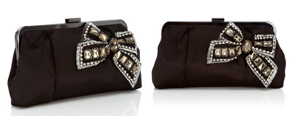 Oasis - Beaded Bow Clutch Bag
