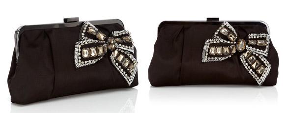 Oasis - Beaded Bow Clutch Bag