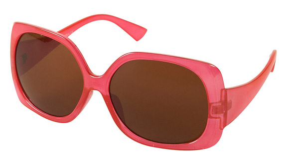 Topshop - Hot Pink Oversize Square Sunglasses