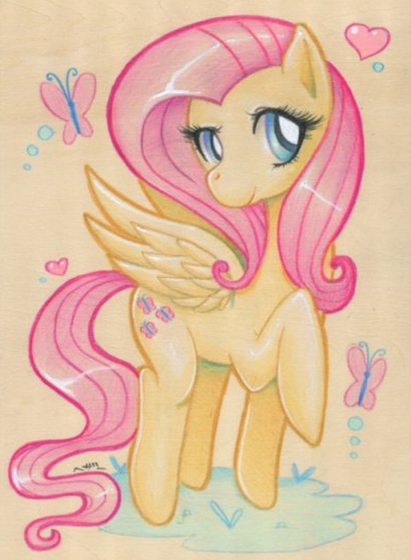 My Little Pony Project 2012, Heather Carlton - Fluttershy Woodblock