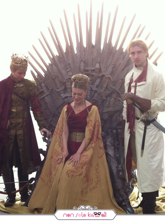 Lannister cosplayers, Trono di Spade, Sky