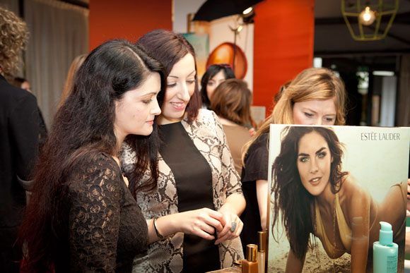 Estée Lauder Bronze Goddess Capri blogger event, Veronique Très Jolie & Angela Chiappa