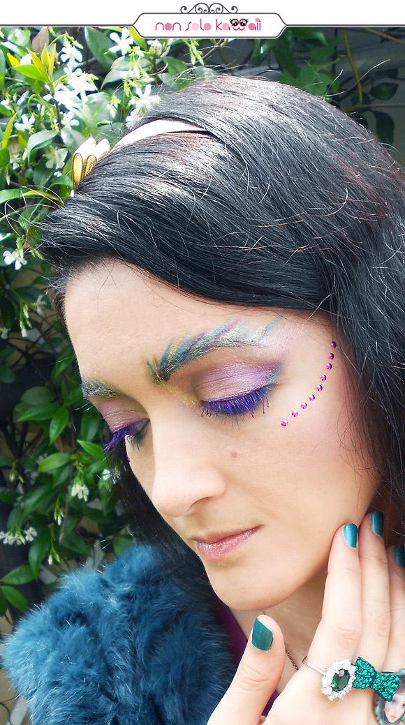 Peacock Feathers Makeup, Trucco Piume di Pavone, Pupa Hot Tropics