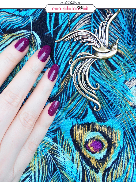 408 Tropical Night Violet, swatch smalto lasting color, Pupa Hot Tropics