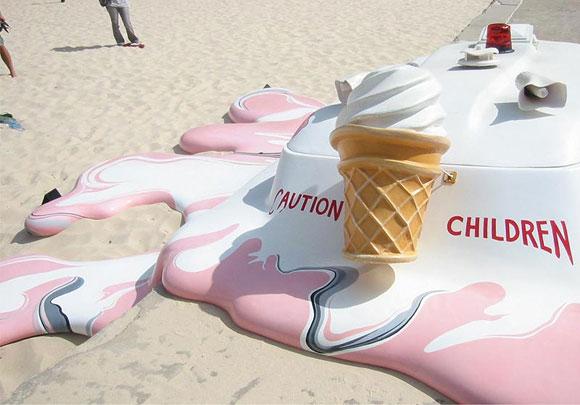 Orest Keywan - Melting Ice Cream Truck - Camioncino dei Gelati Sciolto