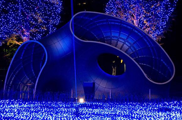 Blue Suffusion, Tokyo Midtown, Roppongi Minato-ku Tokyo, 2007-2008, lights