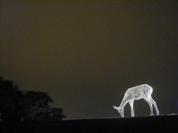 Cédric Le Borgne - Sculpture pérenne, Lyon, Light Deer, Cerbiatto di Luce