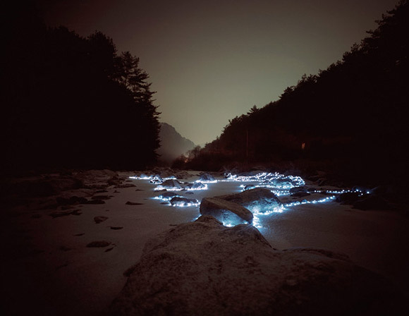 Lee Eunyeol, light design in the nature, giochi di luce nella natura