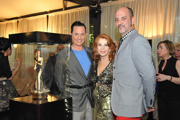 Charles H. Fegen, Desmond Lingard and Abbe Lane at Superdoll Collectables and Elizabeth Arden Event