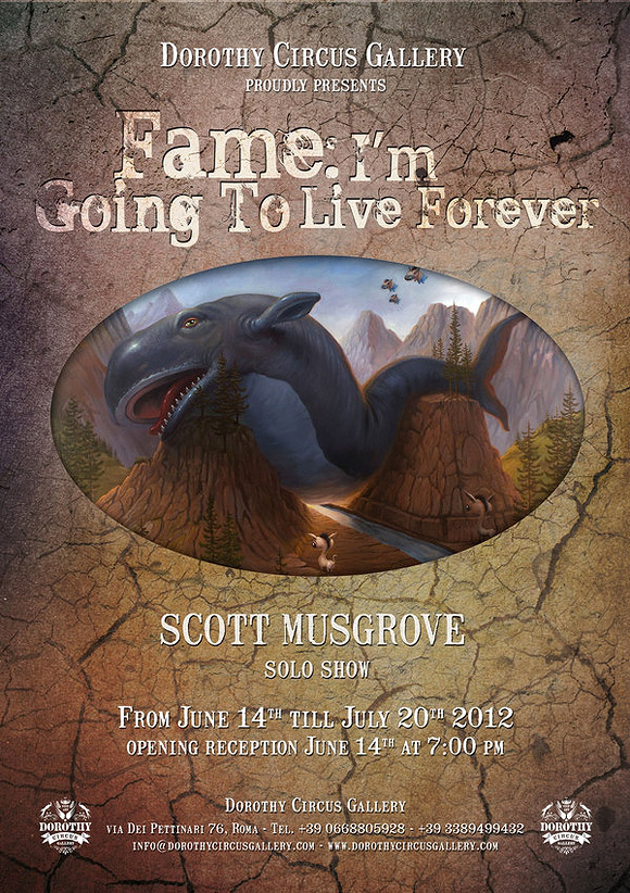 Fame: I'm going to Live Forever, Scott Musgrove Manifesto - Dorothy Circus Gallery