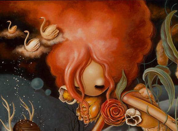 Brandi Milne, Before I Hide Away - Before I Hide Away Show at Corey Helford Gallery